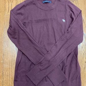 Abercrombie maroon long sleeve thin sweater top